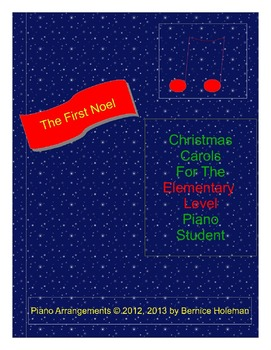 The First Noel from the Christmas Carols For The Elementar