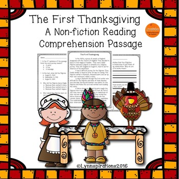 The First Thanksgiving- A Non-fiction Reading Comprehensio