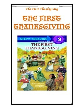 The First Thanksgiving Guided Comprehension Packet