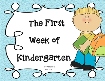 The First Week of Kindergarten!