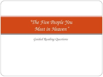 The Five People You Meet in Heaven Guided Reading Questions