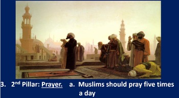 The Five Pillars of Islam PPT and Six Square Activity