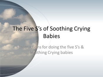 The Five S's of Soothing Crying Babies Power Point/Questio