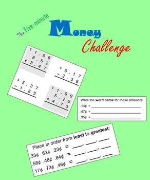 Money:  The Five-minute Money Challenge