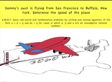 Common Core Math Activity (Flying Aunt)- Distance, Rate, T