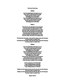 The Food Chain Song