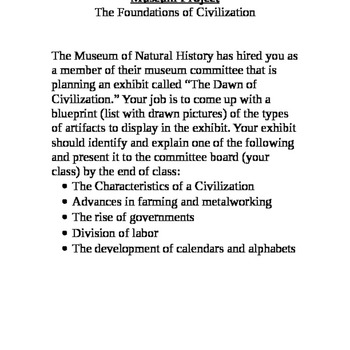 The Foundations of Civilization Museum Project