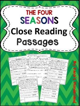 Four Seasons Reading Comprehension Passages