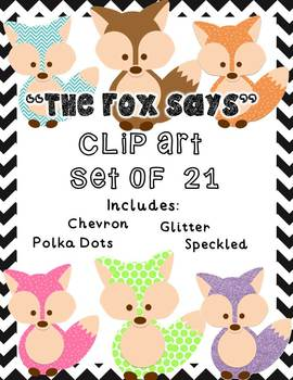 The Fox Says - Colorful Patterned Fox Graphic
