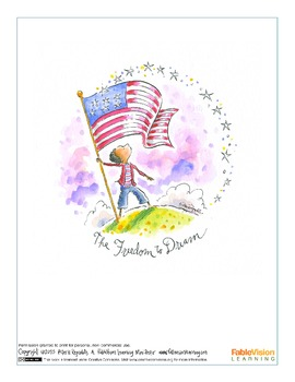 The Freedom to Dream Poster by Peter H. Reynolds