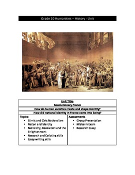 The French Revolution - Complete Teaching Unit