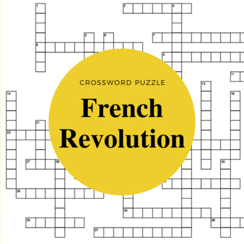 The French Revolution Crossword Puzzle