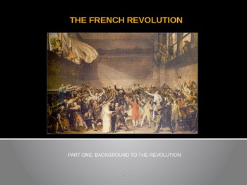 """The French Revolution - Part 1 - """"Background to the Revolu"""
