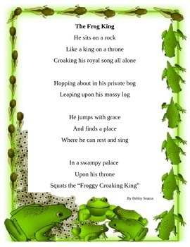 Frog Poem to enhance reading