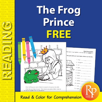The Frog Prince: Read & Color {Freebie}