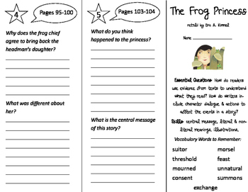 The Frog Princess Trifold - ReadyGen 2016 3rd Grade Unit 2
