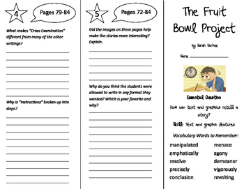 The Fruit Bowl Project Trifold - Journeys 6th Grade Unit 1 Week 3