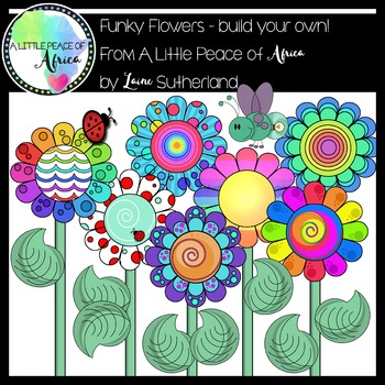 The Funky Flowers Clip Art Collection