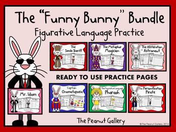 The Funny Bunny Bundle (Figurative Language Practice)