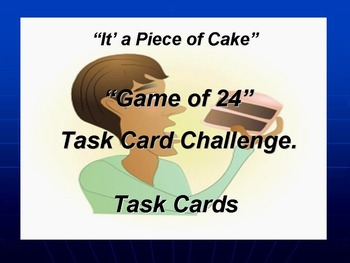 The Game of 24 Task Card Challenge.