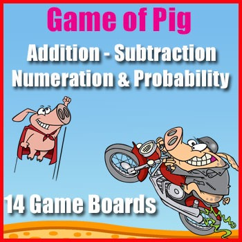 Number Sense Game: {The Game of Pig} - Hundreds Chart Patt