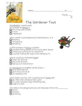 The Gardener Test: Kid-friendly!