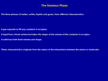 The Gaseous Phase Explained - Chemistry Quick Review (Pres