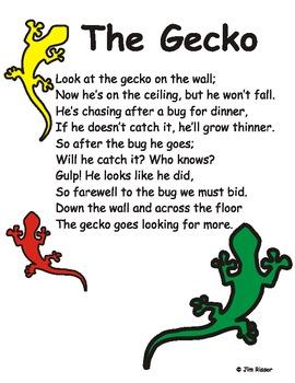 """The Gecko"" Poem"