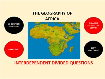 The Geography of Africa: Interdependent Divided Questions