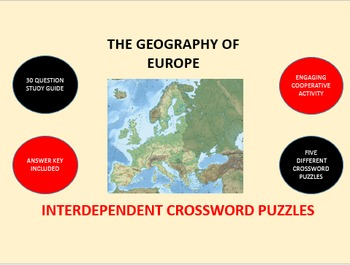 The Geography of Europe: Interdependent Crossword Puzzles