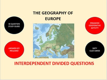 The Geography of Europe: Interdependent Divided Questions