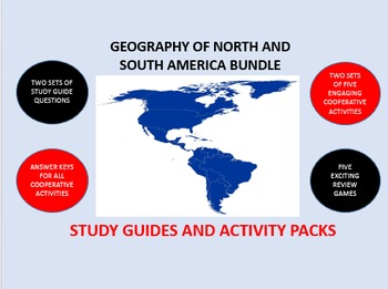 The Geography of North and South America Bundle: Study Gui