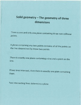The Geometry of Three Dimensions