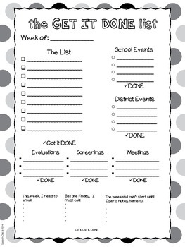 The Get it Done List - Weekly To-Do List Freebie
