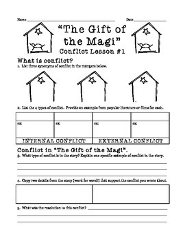 """""""The Gift of the Magi"""" conflict mini-lesson"""