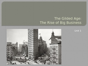 The Gilded Age PowerPoint