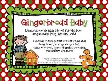 Gingerbread Baby – Speech and Language Activities (Winter