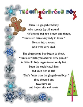 The Gingerbread Boy - Poem and Activity