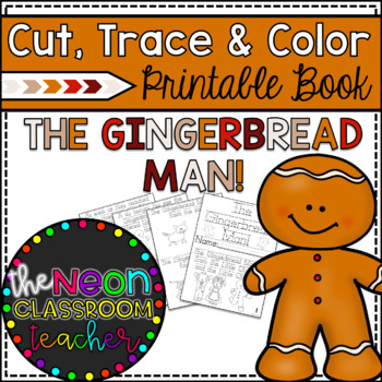 """""""The Gingerbread Man"""" Cut, Trace & Color Printable Book"""