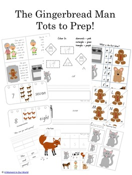 The Gingerbread Man Tots to Prep Pack