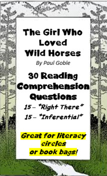 """""""The Girl Who Loved Wild Horses"""" by Paul Goble - Question"""