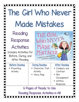 The Girl Who Never Made Mistakes--Growth Mindset Reading R