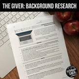 """The Giver: 24-Hour Collaborative """"Short Research Project"""""""