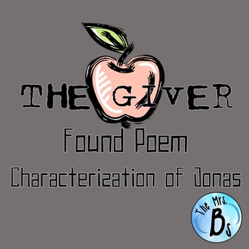 The Giver - Ch. 1-3 Found Poem: Characterization of Jonas