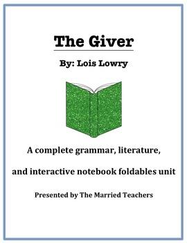 The Giver Complete Literature, Grammar, & Interactive Fold