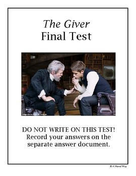 The Giver Final Test/Assessment