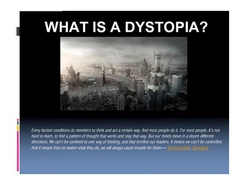 The Giver Introduction to Dystopia