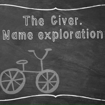 The Giver: Name essay