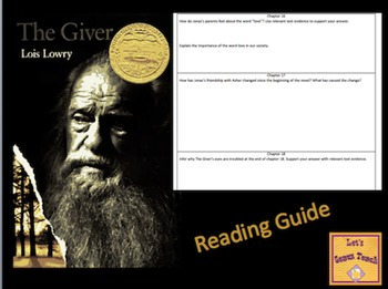 The Giver Reading Guide