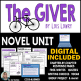 GIVER - Novel Unit Common Core Aligned